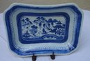 C. 1850 CHINESE EXPORT BLUE CANTON SERVING DISH