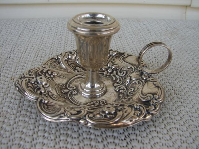 C. 1920 GORHAM STERLING REPOUSE CANDLE