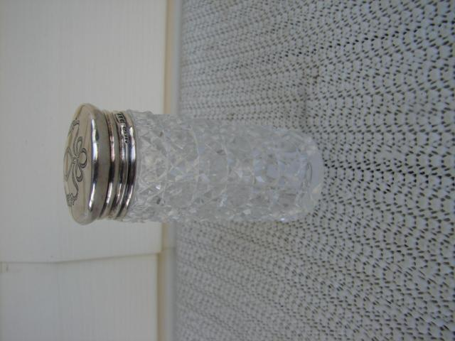 C. 1920 CRYSTAL GLASS MEDICINE BOTTLE