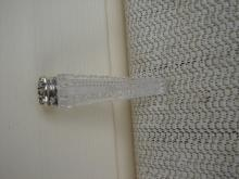 C. 1920 PERFUMER CUT GLASS W/ STERLING TOP
