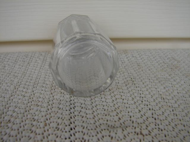 C. 1920 CRYSTAL GLASS MEDICINE BOTTLE