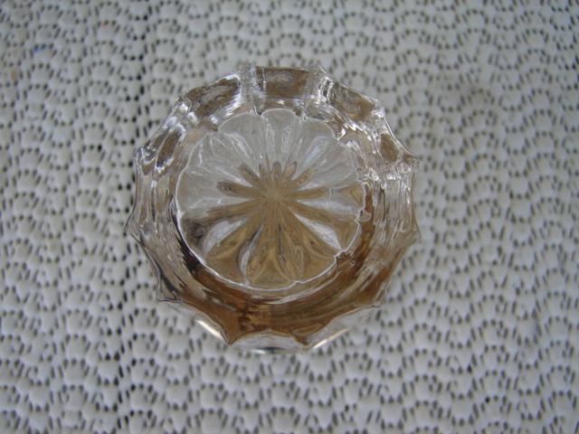 C. 1920 PAIR CRYSTAL GLASS JARS W/TOPS