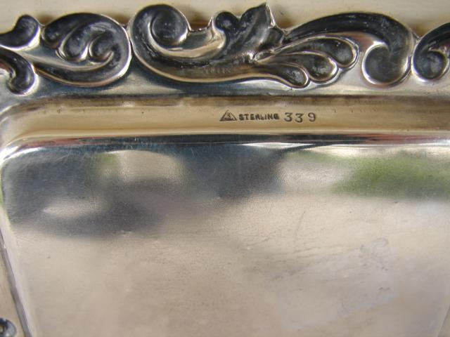 C. 1920 STERLING SILVER TRAY 4 1/2