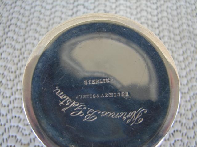 C. 1920 STERLING SILVER SNUFF BOX W/COVER