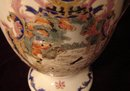 C. 1920 DOUBLE HANDLEPORCELAIN VASE W/FOX HUNT
