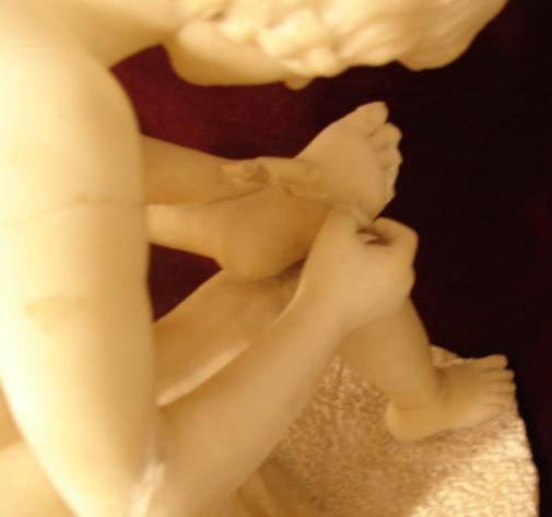 ITALIAN MARBLE FIGURE PICKING THORN IN FOOT