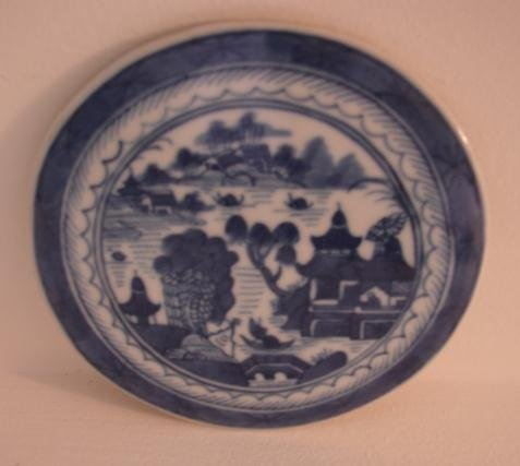 CHINESE EXPORT BLUE AND WHITE BLUE CANTON