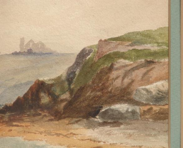 19TH CENTURY WATERCOLOR OF SEASCAPE