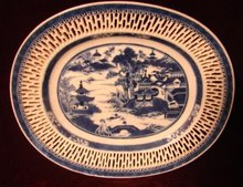 C.1820 CHINESE EXPORT NANKING RETICULATED