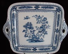 C. 1880 ENGLISH SQUARE PLATE WITH HANDLES