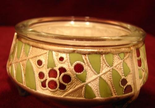 RUSSIAN SILVER & ENAMEL OPEN SALT CELLAT W/