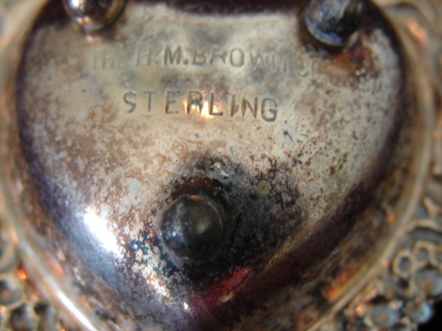 STERLING OPEN SALT BY H.M. BROWN, CO.