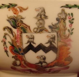 C. 1780 CHINESE EXPORT ARMORIAL TEA BOWL 4 1/4