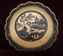 C.1840 CHINESE EXPORT BLUE CANTON SCALLOPED