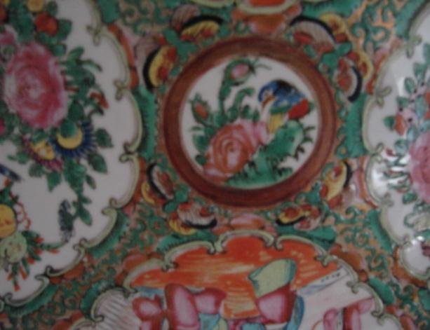 C. 1880 CHINESE EXPORT ROSE MEDALLION PLATE