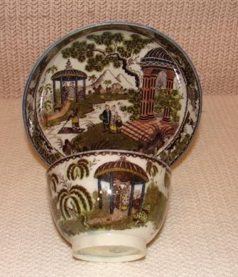 A VERY FINE ENGLISH PEARLWARE CUP/SAUCER