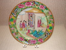 C. 1820 CHINESE EXPORT ROSE MANDARIN PLATE 8