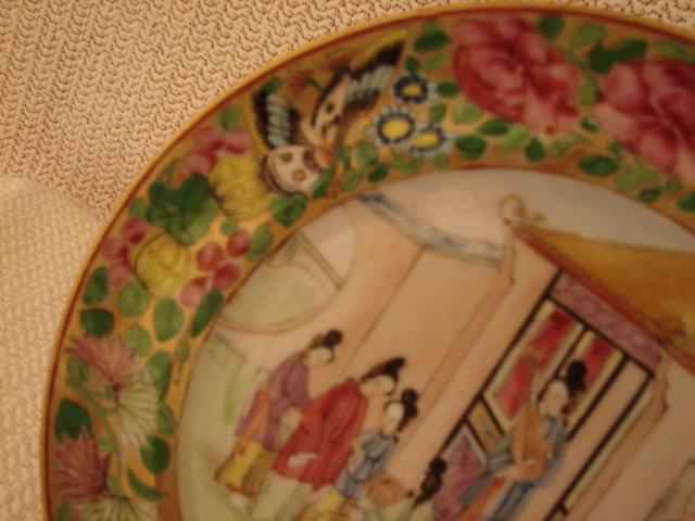 C. 1820 CHINESE EXPORT ROSE MANDARIN PLATE 8