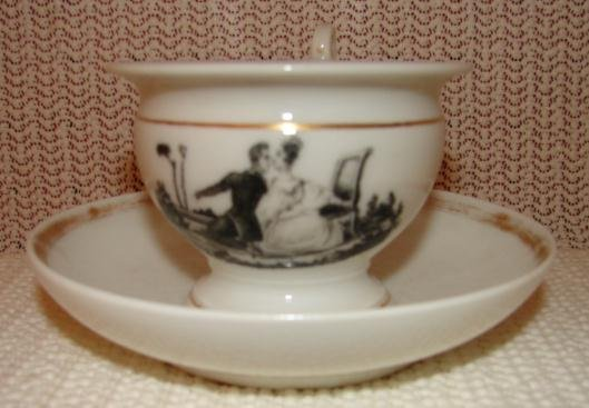 TUCKER PORCELAIN CUP AND SAUCER