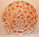 C. 1850 CHINESE EXPORT SACRED BIRD AND BUTTERFLY PLATE