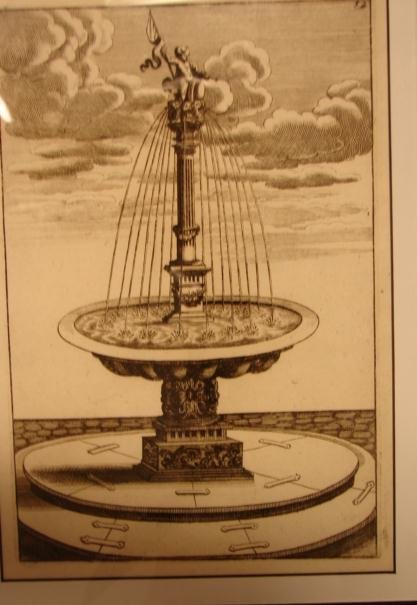 17TH  CENTURY ARCHITECTURAL FOUNTAIN ENGRAVING