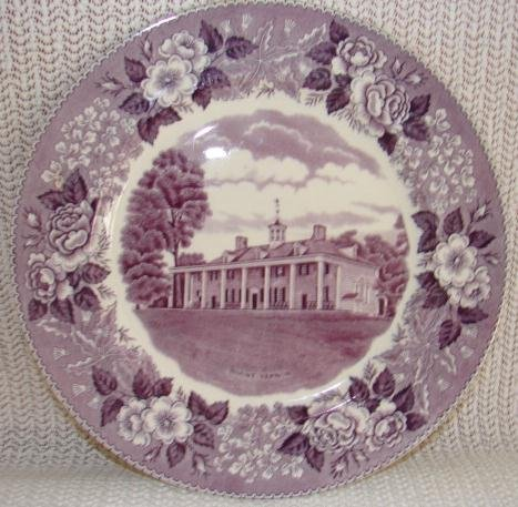 ENGLISH STAFFORDSHIRE MOUNT VERNON PLATE