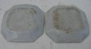 C. 1875 PAIR CHINESE EXPORT ROSE MEDALLION 8-SIDED CONDAMINT DISHES