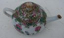 C. 1880 CHINESE EXPORT ROSE MEDALLION MINATURE TEAPOT