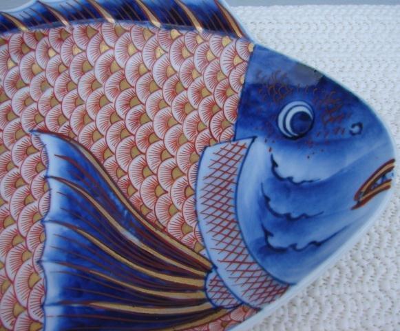 C. 1890 JAPANESE IMARI FISH 9 3/4