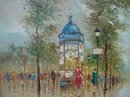 20TH CENTURY A. DEVITT PARIS STREET SCENE PAINTING