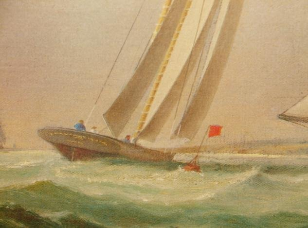 THE YACHT AMERICA,1ST WINNER OF THE AMERICA CUP RACES
