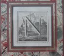 18TH CENTURY TWO ITALIAN LETTER ENGRAVINGS
