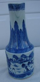 C. 1820 CHINESE EXPORT RARE BLUE CANTON EWER 12 1/2