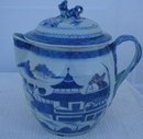 C. 1820-1840 CHINESE EXPORT BLUE CANTON CIDER JUG