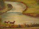 19TH CENTURY PRIMITIVE ENGLISH LANDSCAPE