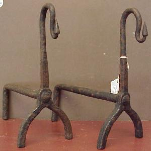 Miniature Wrought Iron Andirons