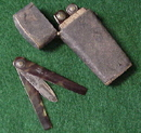 Medical Etui with 4 Thumb Lancets in Shagreen