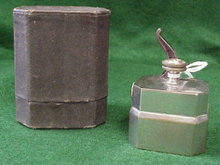 Antique medical scarificator in case