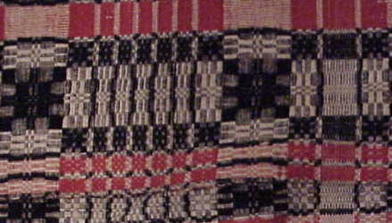 Overshot Woven Coverlet