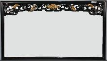 Asian-Inspired Black Lacquered Mirror
