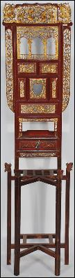Antique Chinese Carved Folding Wash Stand
