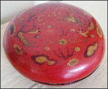 Antique Red Lacquer Box With Dragons