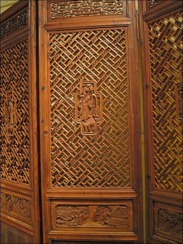 Set of Chinese Carved Wooden Panels