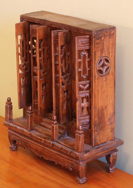 Antique Oriental Family Shrine