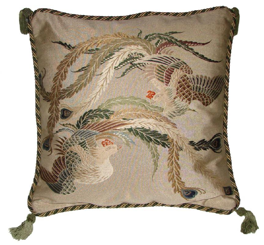 Fukusa Decortive Pillow with Two Phoenix