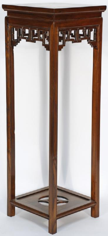 Asian-Inspired Tall Plant Vase Stand