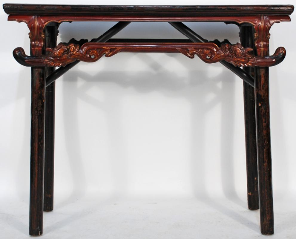 Antique Chinese Carved Folding Table