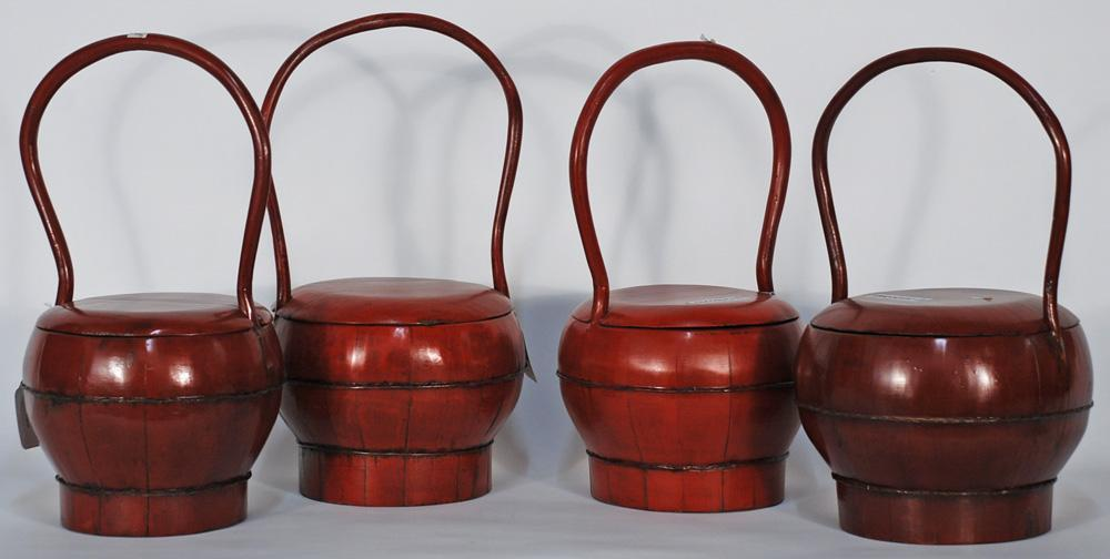 Chinese Round Bucket with Curved Handle