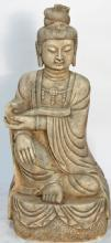 Carved Marble Sculpture-Guanyin with Ruyi