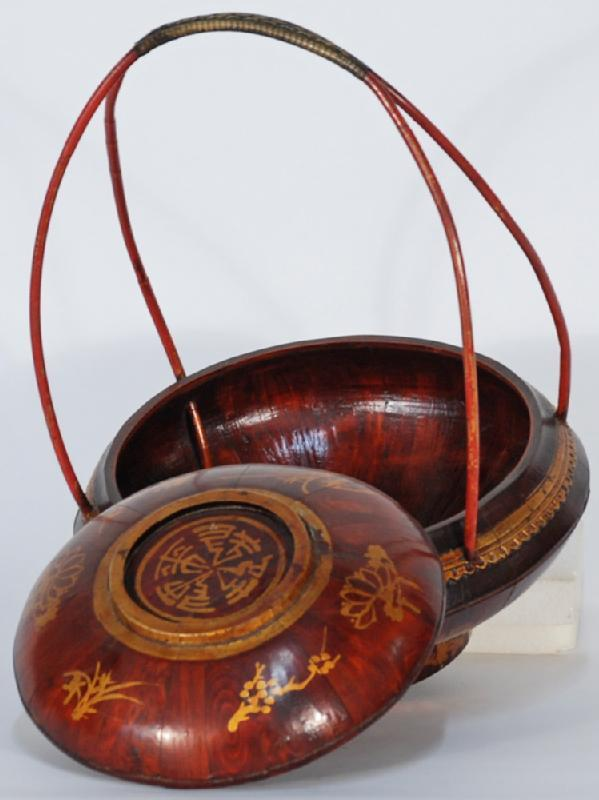 Chinese Ladies' Bucket with Reed Handle